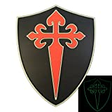 Glow Dark Order Santiago St. James Cross Cruz Templar Crusaders Morale PVC 3D Hook-and-Loop Aufnäher Patch