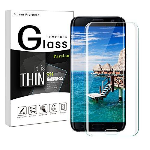 Protector de pantalla Galaxy S7 Edge,Parsion 3D Touch Compatible Full Coverage Cristal...