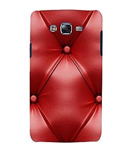 Red Leather Pattern 3D Hard Polycarbonate Designer Back Case Cover for Samsung Galaxy J7 J700F (2015 OLD MODEL) :: Samsung Galaxy J7 Duos :: Samsung Galaxy J7 J700M J700H