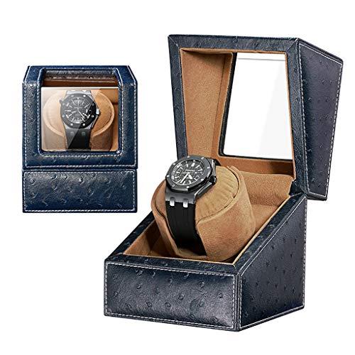 Uhrenbeweger Watch Winder Automatischer Einzel Uhrenbeweger Wickel Holz/Leder Display Box Case, Klavierlack, Geeignet für Damen und Herren Handgelenk, Mute Motor (Color : H) -