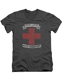 Bon Jovi Bad Medicine Mens V-Neck Shirt