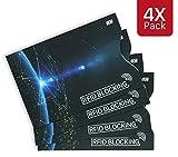 MyGadget RFID & NFC Schutzhüllen Set [4 Stück] - Kreditkarten Datenschutz Sicheres Blocking Gegen Datendiebstahl Schutz Blocker Karte fürs Portemonnaie