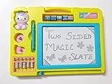 #4: Blossom 1pc Double Sided Magic Slate + Black Slate Chalk Board-Random Color