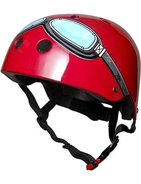 Kiddimoto - Kmh006/M Casco Red Goggle Taglia M