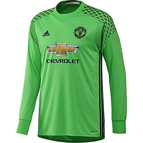 adidas Herren Torwart/Auswärts-trikot Manchester United Replica Torwarttrikot, Sollim/Black, 4XL - United Auswärts Manchester