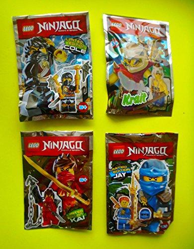 Lego Ninjago Movie 2017 - Set limitierte Figuren Jay + Cole + Kai + Krait