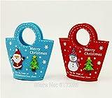 neuen product4PCS Filz Tasche Weihnachten Geschenk Taschen Halter Konfektion Party Decor Rot Filz Tasche, rot, As Shown In Pic