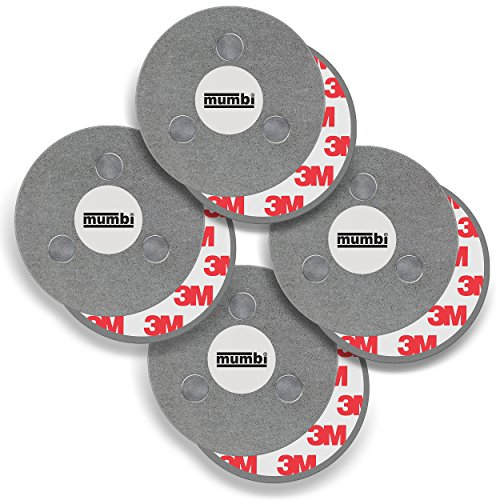 mumbi 4er Set Magnetbefestigung für Rauchmelder Magnet Befestigung für glatte Flächen (NICHT für...