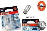 Original OSRAM 1 - Set T10 W5W 12V 5W ORIGINAL Soffitte Standlicht Parklicht Scheinwerfer PREMIUM - NEU - / Audi - BMW - Dacia - Fiat - Ford - OHNE FEHLERMELDUNG - StVO Zugelassen