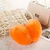 Geburtstag Festival Valentinstag Geschenk Weihnachten Winter Lady pearl Ohr von Frauen kapselgehörschützer Kapselgehörschützer Ohr ohr Abdeckung Dame warme Tasche orange Tag s e