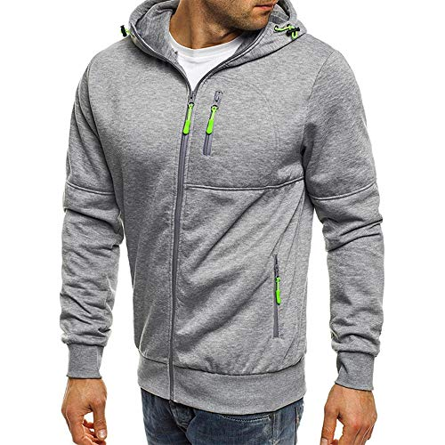 ZEELIY Herren Casual Solide Big and Tall Herren Kapuzenpullover Voller Reißverschluss Autum Fashion Hoodies Mantel mit Taschen Winter丨 warm丨Urlaub丨 Straße丨 Alltag丨 2019 Mode(L-3XL)