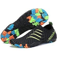 Unisex Zapatos de Agua Escarpines Hombre Verano Calzado EN Playa Arena Mar  Río Piscina Buceo Surf e2b7246054f