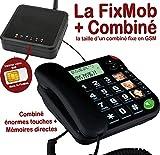 Mobiho Essentiel La FixMob + Combiné 480 innovation Mobiho - Combiné gsm senior. Conviendra à un sénior qui veut un modèle extrêmement simple à immense touche. DEBLOQUE TOUT OPERATEUR