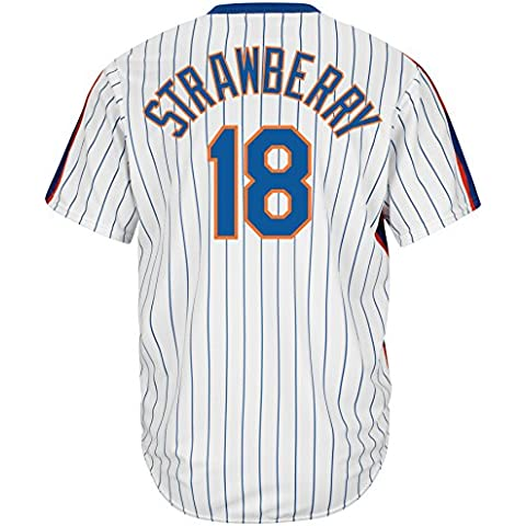 Majestic Darryl Strawberry # 18 New York Mets Cool Base MLB, L