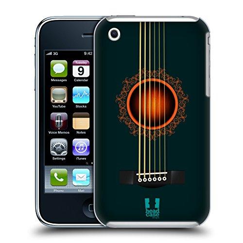 Head Case Designs Giallo Chitarra Acustica Cover Retro Rigida per Apple iPhone 7 Plus / 8 Plus Turchese Scuro