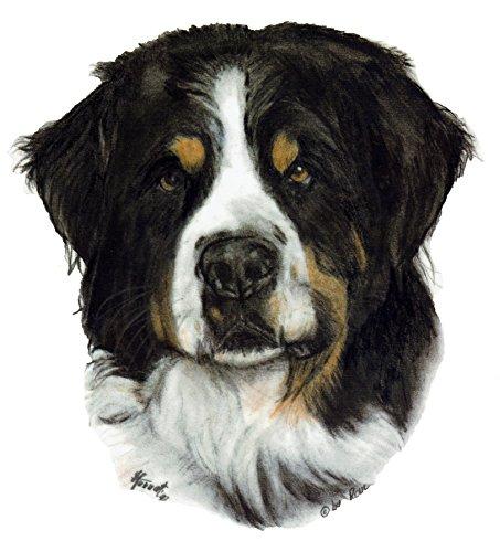 pet-lovers-gifts Aufkleber/Sticker/Autoaufkleber - Hunde Berner Sennenhund [r001] -