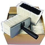 ROTIX 6 x Deckenbürste 175 x 78 mm | Kunststoffkörper | Synthetikborste gestanzt | 6er-Pack