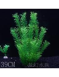 JXC-Simulation d'aquarium aquarium aquarium vert gazon vert aquatique,39cm de haut