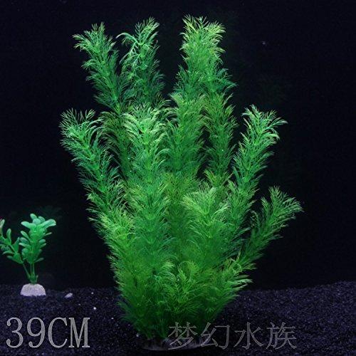 JXC-Simulación de Fish Tank El acuario El acuario de color verde hierba acuática,alto 39CM