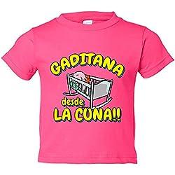 Camiseta niño Gaditana desde la cuna Cádiz fútbol - Rosa, 3-4 años