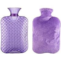 Klassische transparente Gummiwasserflasche 2 Liter mit Abdeckung für Schmerz-Kältetherapie #34 preisvergleich bei billige-tabletten.eu