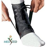 medized Stabilizzatore di caviglia Tutore Protezione Sport piedino di sicurezza tensione Staffa cinghia di compressione velocità Lacer Calcio, Baseball, Pallavolo Netball