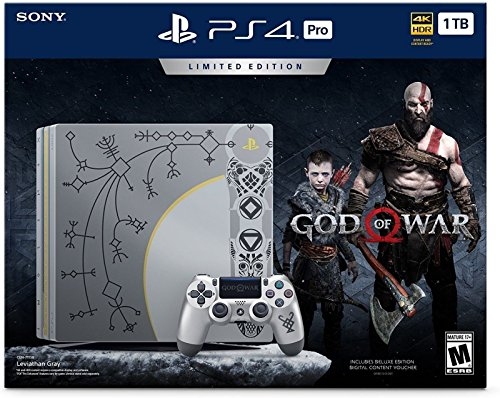 Sony PS4 Pro 1TB Console - Limited Edition (Free Game: God of War)