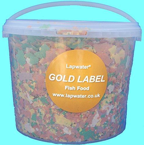 gold-label-value-aquarum-goldfish-koi-pond-fish-flake-food-5000ml-5-litre-tub