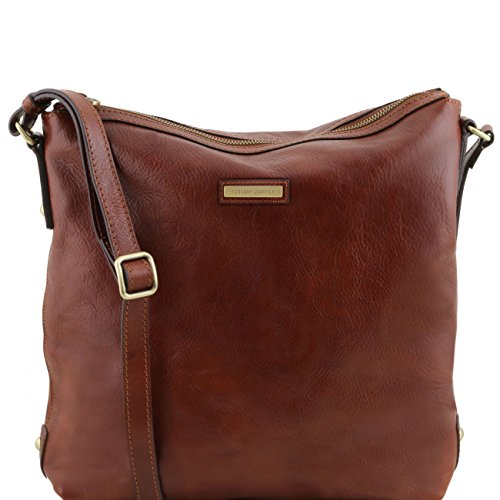 Tuscany Leather Alice - Borsa donna shopper in pelle - Misura Grande Miele Borse donna a tracolla Marrone
