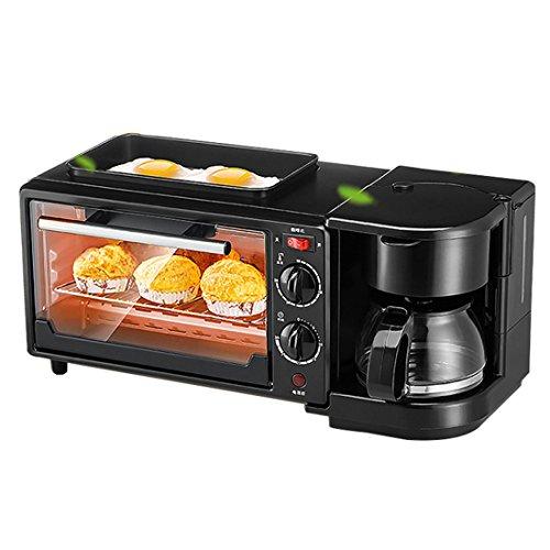 Q-Zooy Kaffee-Elektrischer Frühstücks-Sandwich-Hersteller-Maschinen-Grill Für Eier Elektrische Wanne Und Tragbare Kochende Maschine 3 In 1