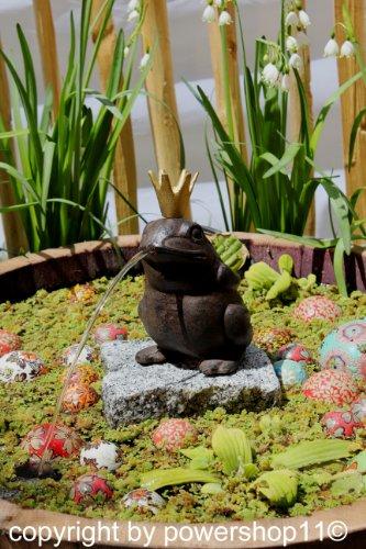 """Wasserspeier \""""Froschkönig\"""" aus Gusseisen 19 cm"""