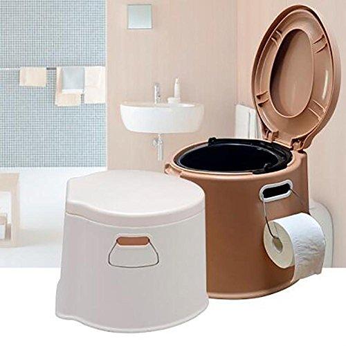 SCZLSYL Toilette WC Toilette portatile Toilette mobile per anziani , coffee