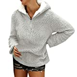 Jaysis Pullover Sweat-Shirt a Capuche Fausse Fourrure Femme Manche Longue Sweatshirt...