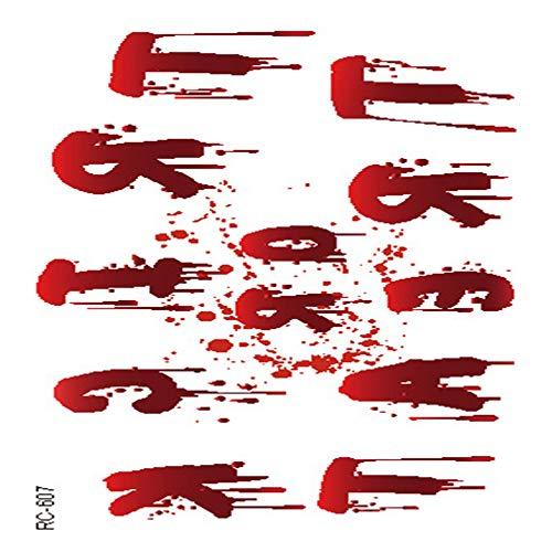 adgkitb Halloween Requisiten Atmosphäre Horror Tattoo Aufkleber Wunde realistische Blutnarben Tattoo Tattoo 31 10,5x6cm