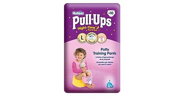 Huggies® Pull-Ups® Disney Princess Nacht Mädchen Größe 6 Töpfchen Hosen x10