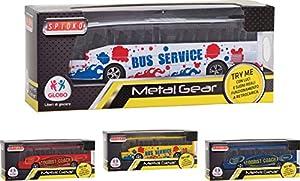 """Globo Toys Globo - 36549 """"4 Colores Spidko Try-Me Die Cast Retroc autobús con luz y Sonido"""