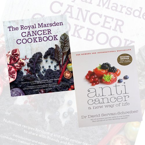 Cancer Cookbook Collection The Royal Marsden Cancer Cookbook,Anticancer 2 Books Collection Set