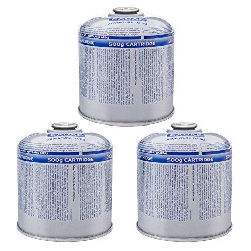 Cadac 3 x Schraubkartusche 500 g Ventil Gas Kartusche Kocher Butan Propan Mix