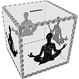 Azeeda Grande 'Silhouette di Stelle di Meditazione' Salvadanaio (MB00066982)