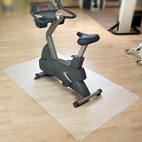 casa pura Bodenmatte/Unterlegmatte für Heimtrainer, Ergometer, Crosstrainer und andere Fitnessgeräte - 75x120cm -