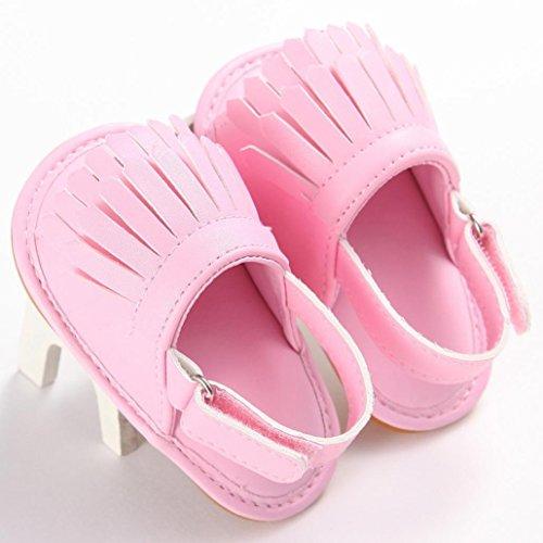 Omiky® Rosa Mädchen rutsch 2017 Sole Mode Krippe Anti Blume Kleinkind Schuhe Neugeborene Sandalen Baby Soft Sneakers ZwrZC4qntP