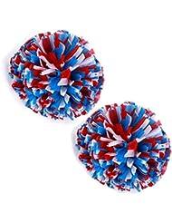 VOBAGA 2 Stück Cheerleader Pompons Cheerleading Pom Poms Kunststoff Plastik mehr Farben vorhanden