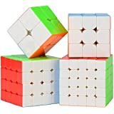 D ETERNAL cube combo set of 2x2 3x3 4x4 5X5 High Speed Stickerless Puzzle toy