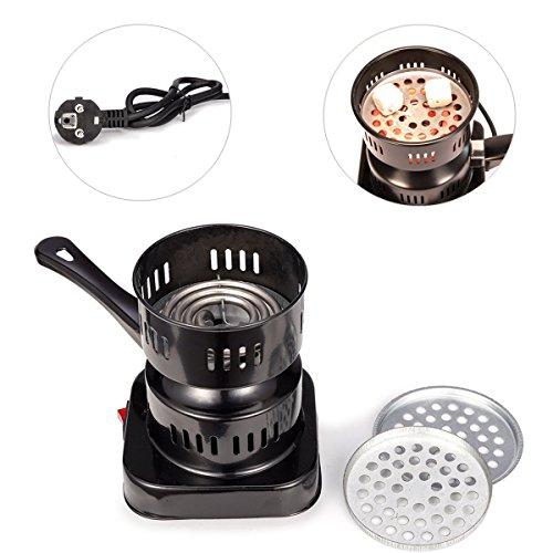 MERITON Cocina Estufa Eléctrica para Shisha Cachimba Carbón Hornillo 1000w Hot Plate...