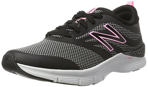 New Balance Women's 713 Graphic Trainer Fitness Shoes, Black (Black/Pink), 6 UK 39 EU