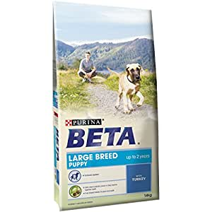 Purina beta puppy large breed dry dog food with turkey 14 for Purina game fish chow