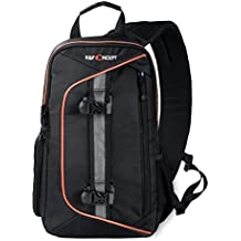 K&F Concept - Mochila Bandolera para Cámara Réflex DSLR y Accesorios sin Espejo de Canon Nikon Sony Pentax, Bolsa para Cámara DSLR Resistente y impermeable con Protector de Lluvia Desmontable, Cámara Mochila (23cm*14cm*37cm)