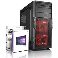 Gaming PC SSHD / Multimedia COMPUTER mit 3 Jahren Garantie!   Quad-Core! AMD A10-7700K 4 x 3800 MHz   8GB DDR3   750GB SSHD   AMD Radeon R7000 4096 MB DVI/VGA HyperMemory 8xCore APU  USB3.0   22x DVD±R/RW   Windows10 Professional 64 #5729