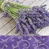 20 Servietten Lavendelstrauß auf Holz / Lavendel / Blumen / Sommer 33x33cm