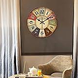 Wall Clock WERLM Personalisierte Startseite Clock Tabelle zu Tabelle Stummschaltung prüfen alte Clock ist eine Familie Restaurant küchen Büro Schulen sind ideal für jeden Raum 14 InchI,